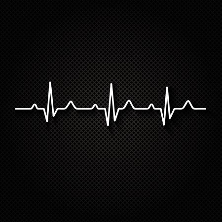 rhythm: Vector Illustration heart rhythm ekg .vector