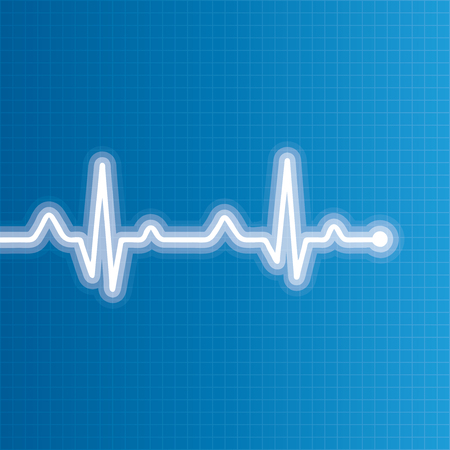 heart beats: Abstract heart beats cardiogram illustration - vector