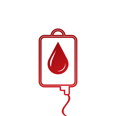 transfuse: Blood Bag isolated on white.vector
