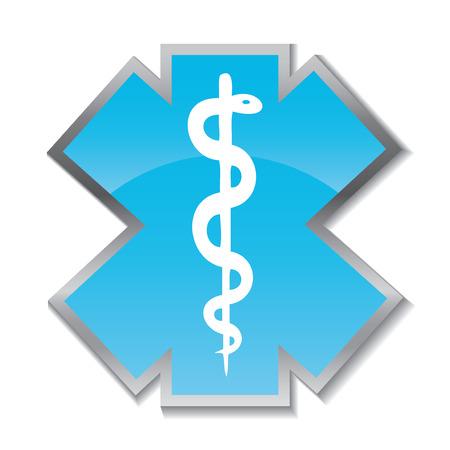medical symbol: Abstract medical background with caduceus medical symbol. EPS 10. Illustration