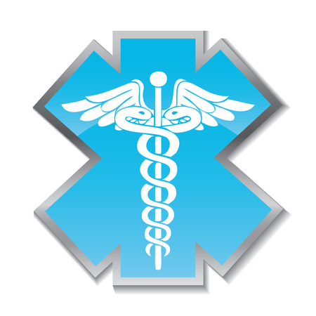 caduceus medical symbol: Abstract medical background with caduceus medical symbol. EPS 10. Illustration