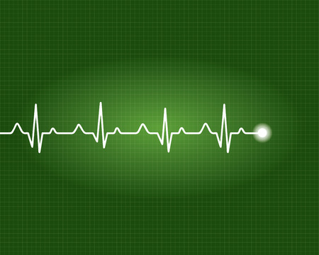 cardiogram: Abstract heart beats cardiogram illustration - vector