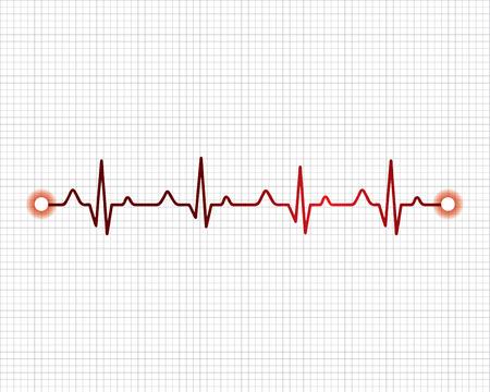 Abstract heart beats cardiogram illustration - vector Vector Illustration