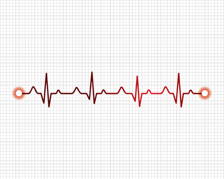Astratto cuore batte cardiogramma illustrazione - vector Vettoriali
