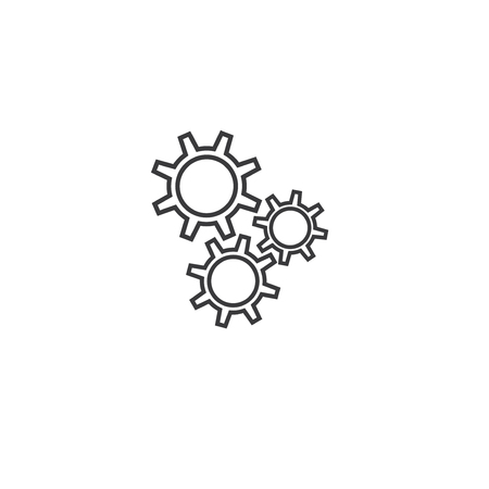 Gear Icon Isolated on White Background.vector