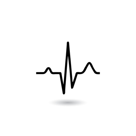 EKG signal on white background.vector.EPS10