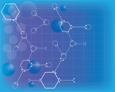 Abstract molecules medical background.