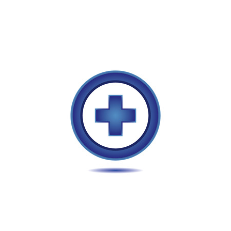 Medical cross line icon.