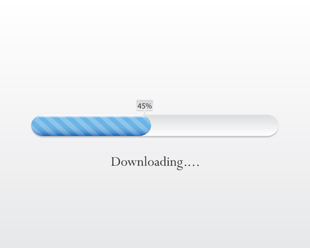 Vector loading bar. Progress of downloading or uploading.eps10