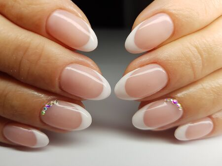 Beautiful colorful nails and hand manicure.