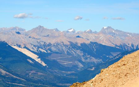 View from the Ski Hill, Golden, BC, Canadas Rocky Mountains)