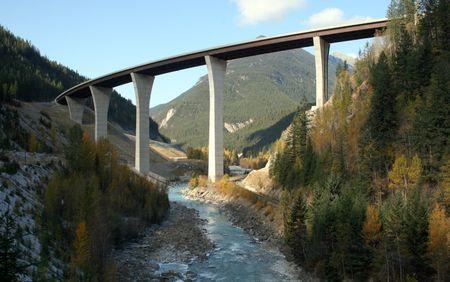 Park Bridge, Golden, BC, (spanning Kicking Horse Canyon)