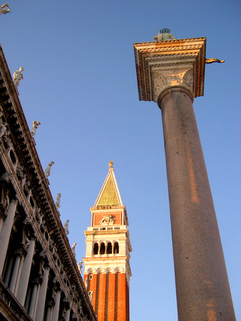 clock of the moors: The Campanile of St Marks Cathedral in Venice Italy Editorial