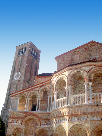 clock of the moors: The Island of Torcello in the Venetian Lagoon in Italy
