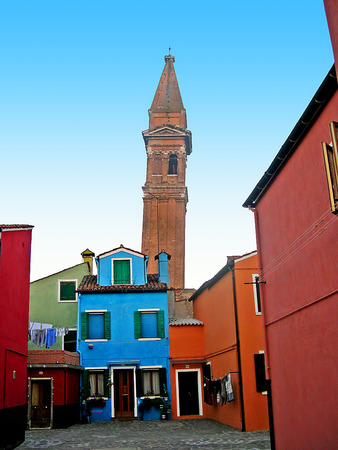 st  marks square: The Island of Burano in the Venetian Lagoon in Italy