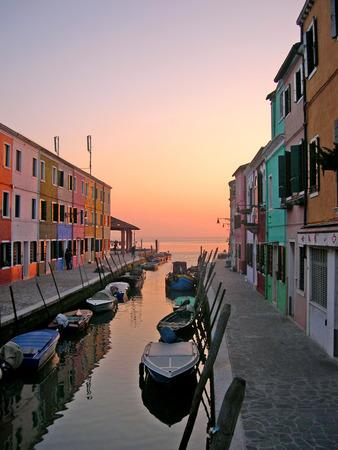 clock of the moors: The Island of Burano in the Venetian Lagoon in Italy