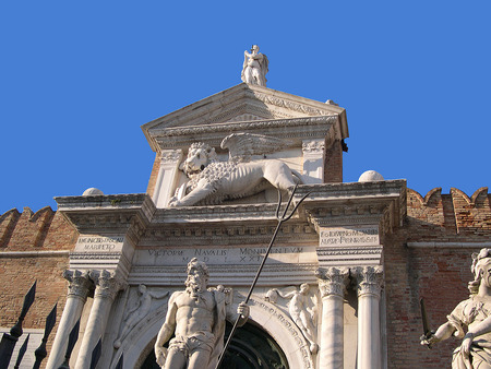 clock of the moors: The Arsenale  In Venice Italy