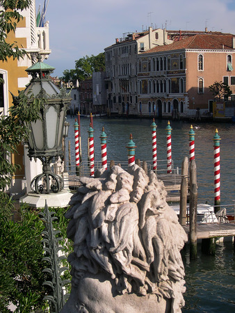 doge's palace: The Grand Canal in Venice Italy