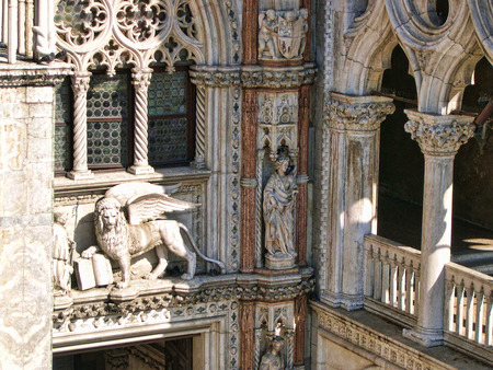 clock of the moors: Corner of the cathedral of St Marks in Venice Italy
