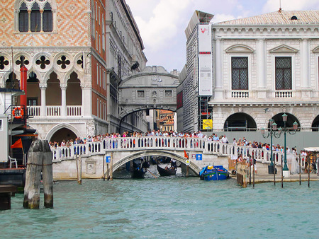 clock of the moors: The Bridge of Sighs in Venice Italy