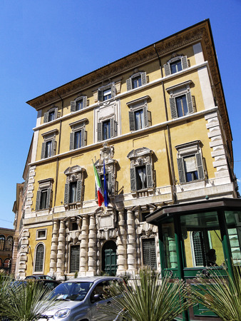 Elegant Building in Rome Italy
