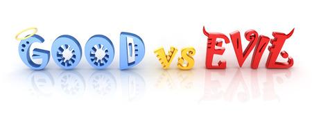 3d letters - good vs evil Stock Photo - 28848800