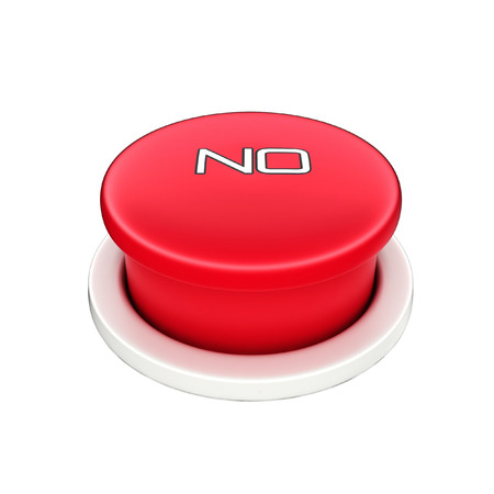 shutoff: 3d shinny and glossy red no button Stock Photo