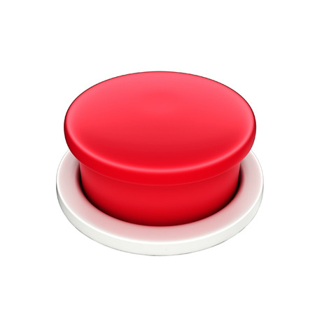 shutoff: 3d shinny and glossy red button