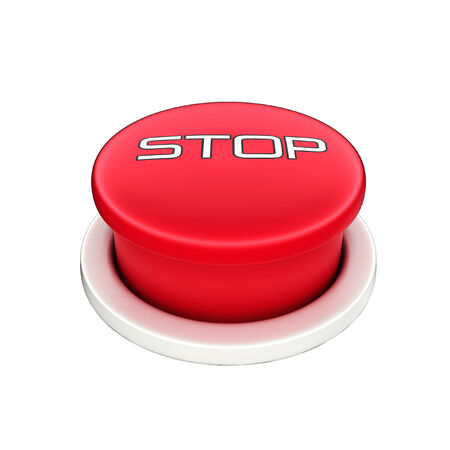 shutoff: 3d shinny and glossy red stop button