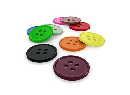 3d glossy and shinny buttons on white background render photo