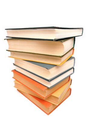 Stack of old books, white background, wide-angle shot Stock Photo - 8100868