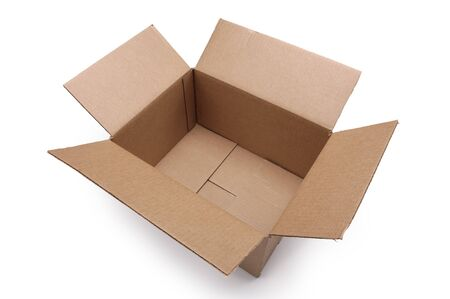 Empty cardboard box on a white background