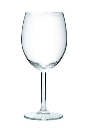 Empty wine glass, isolated on a white background 版權商用圖片