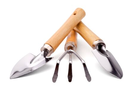 Set of gardener or florist tools, isolated on a white background