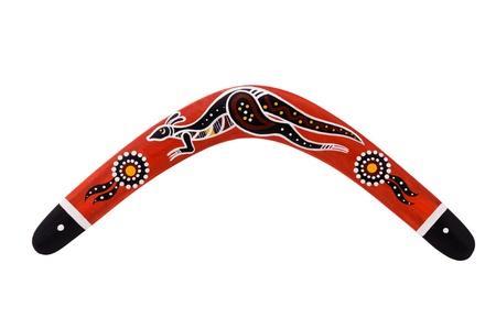 aboriginal: Boomerang, aislado en un fondo blanco