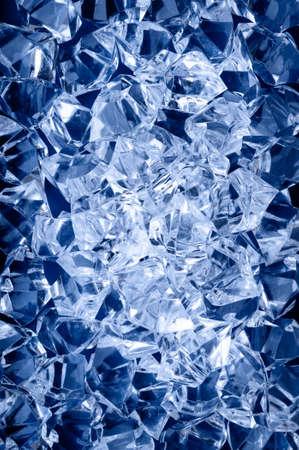 ice crushed: Crushed ijs oppervlak, abstracte achtergrond, natuurlijke vignet Stockfoto