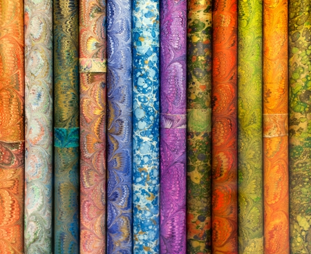 Rolls of wrapping paper, nice textured colorful background 版權商用圖片