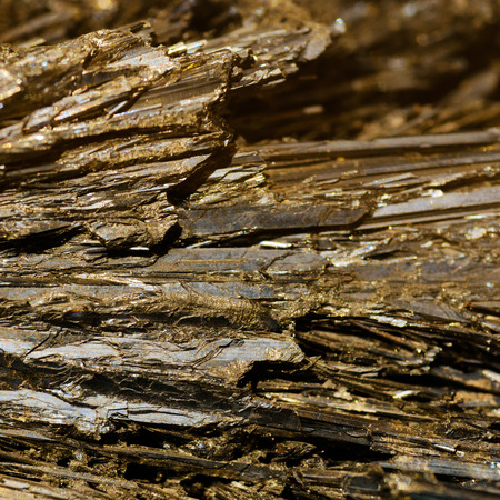 ore: Backgrounds and textures: beautiful golden-brown crystals of ore mineral, abstract pattern, natural background