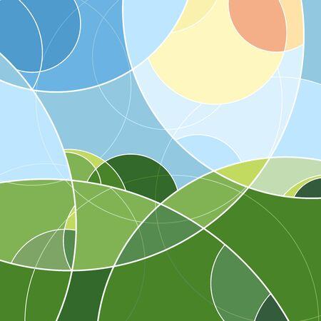 Backgrounds and textures: abstract geometric pattern in bright vivid summer colors 版權商用圖片