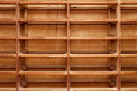 Empty old wooden closet, abstract background