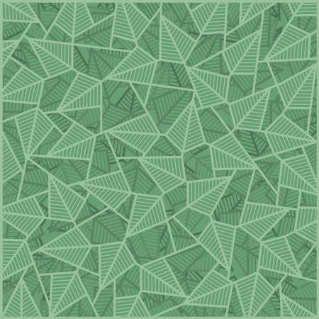 Mix of green leaves, abstract pattern