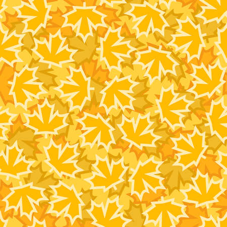 Yellow maple leaves seamless pattern, abstract seasonal autumn background 版權商用圖片