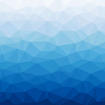 Modern abstract polygonal background, gradient mix of blue and white triangles 向量圖像