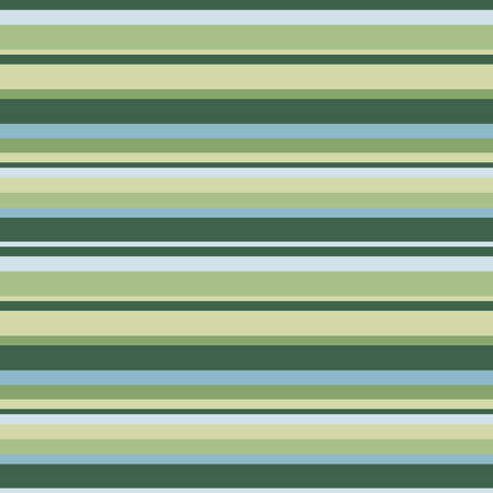 Green, cyan and yellow horizontal parallel lines background, seamless pattern
