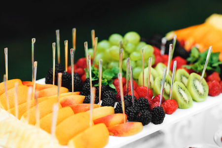 Delicious Wedding Reception Fresh Fruits On Buffet Table Corporate