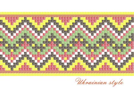 purl: Ukrainian national pattern for embroidery, decoration, ukrainian style