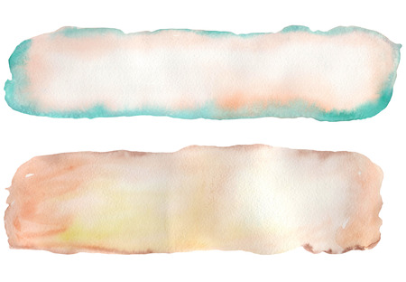 pink brown: Watercolor pink, brown and turquoise background for a text, greeting card, decoration postcard or invitation; texture of a watercolor paper
