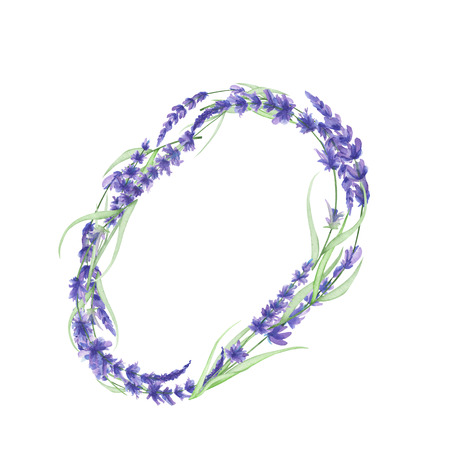 ideograph: Capital letter O of watercolor lavender flowers, isolated hand drawn on a white background, wedding design, english alphabet for the festive and wedding decor and cards
