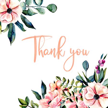 핑크 곰 끌 및 유칼립투스 지점, 수채화 그림, 초대장 및 다른 작품, 웨딩 디자인, 인사말 카드 흰색 배경에 그려진 손으로 그리는 템플릿 엽서