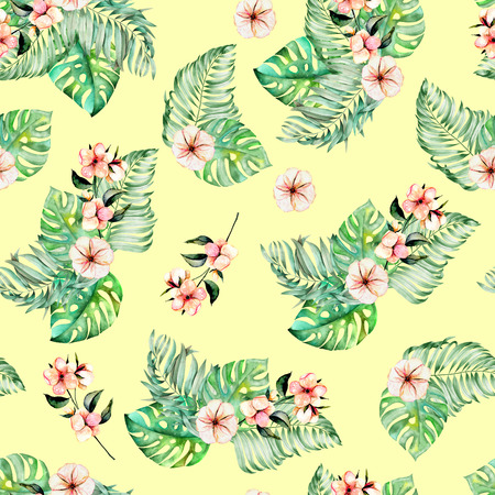 Seamless pattern with watercolor, isolated on a white background.
